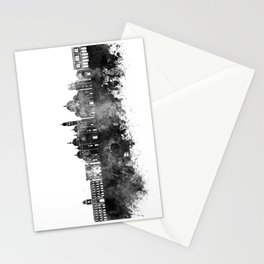 Padua skyline in black watercolor Stationery Cards