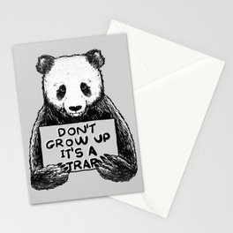 Don't Grow Up It's a Trap Stationery Cards