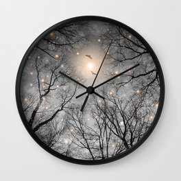 Nature Blazes Before Your Eyes 2 (Ash Embers) Wall Clock