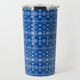 Blue Christmas ornament 2 Travel Mug
