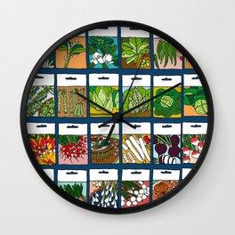 Veggie Seeds Pattern Wall Clock