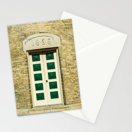 Door to Southport Light Station Lighthouse Tower Lake Michigan Stationery Cards