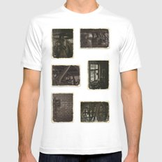 The Old Mill MEDIUM Mens Fitted Tee White