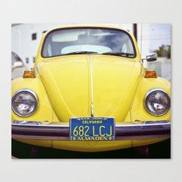 Punchbuggy Yellow Canvas Print