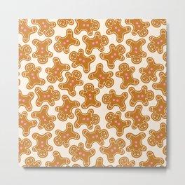 Gingerbread & Gumdrop Buttons Metal Print