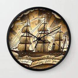 Sailing Winds Wall Clock