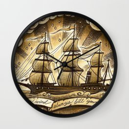 Sailing Winds Wall Clock