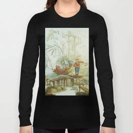 Light Green & Red Chinoiserie Long Sleeve T-shirt