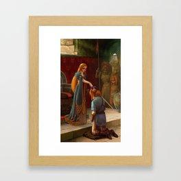 The Knighting Framed Art Print