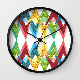 Fragments and patchwork Wall Clock