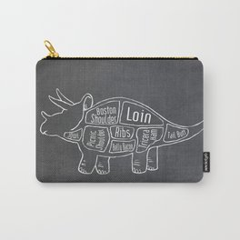 Triceratops Dinosaur (A.K.A Three Horn Face) Butcher Meat Diagram Carry-All Pouch