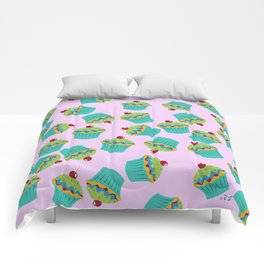 Cupcakes - 'The Marvelous Colors of a Lollipop' Comforters