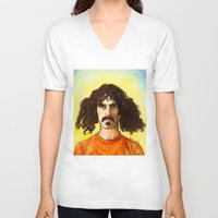 zappa V-neck T-shirts featuring Frank Zappa by IamDeirdre
