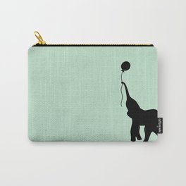 Elephant with Balloon - Mint Carry-All Pouch