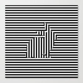 Rabbit on Stripes Canvas Print