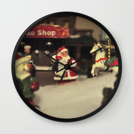 Santa Checking his List Wall Clock