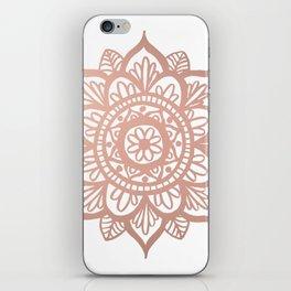 New Rose Gold Mandala iPhone Skin