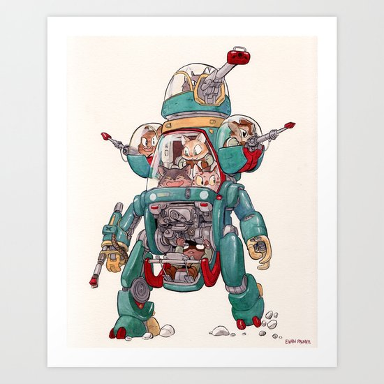 The Tactical Scout Walker Art Print