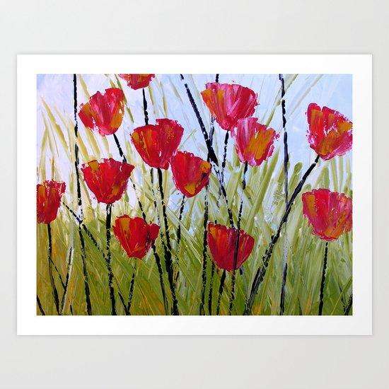 Little Reds Art Print