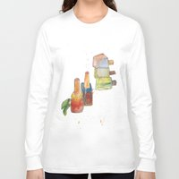 nail polish Long Sleeve T-shirts featuring Nail Polish by Alia