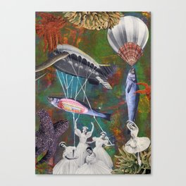 Underwater ballet Canvas Print