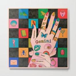 Gemini Hand Metal Print