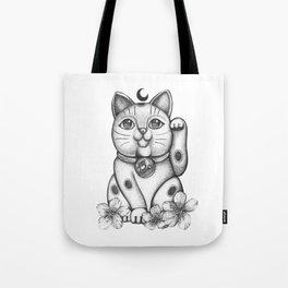 Maneki Neko  Cat Tote Bag