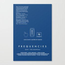 FREQUENCIES MEDIUM FREQUENCY (THEO - BLUE) CHARACTER POSTER Canvas Print