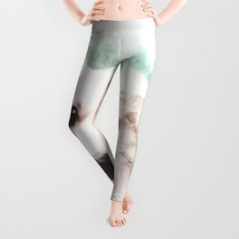 Pembroke Welsh Corgi Digital Watercolor Painting Leggings