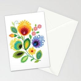Polish Folk Flowers Yellow Stationery Cards