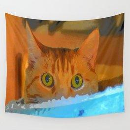 Sir Watson Tabby Digital Cat Wall Tapestry
