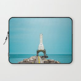 Port Washington Wisconsin Breakwater Light Lake Michigan Deco Lighthouse Laptop Sleeve