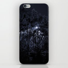 Trees In The Night Light iPhone Skin