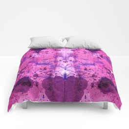Purple Frenchy Heart Comforters