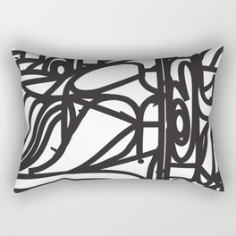 Stained Glass Patter (Black outlines) Rectangular Pillow
