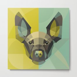 Geometry Dog Metal Print