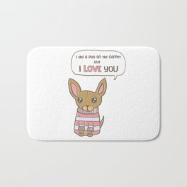 But I Love You! Bath Mat