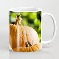 vegetable Mugs featuring  autumn vegetable by Karl-Heinz Lüpke