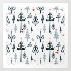 Christmas Tree Forest Art Print