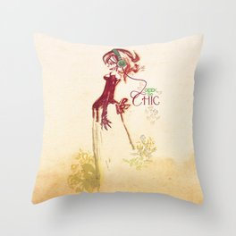 Geek so chic 2 Throw Pillow