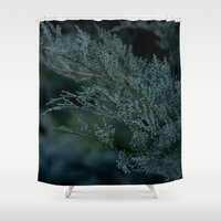 woods Shower Curtains featuring Woods  by Cynthia del Rio