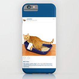 Litter Box Selfie iPhone Case