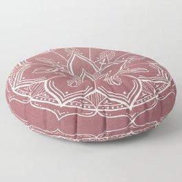 Gothic Mandala -Dusty Rose Floor Pillow