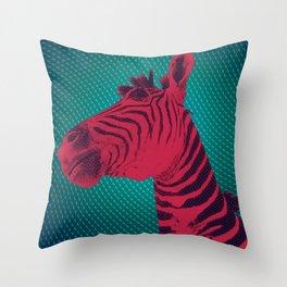 Magenta Zebra Throw Pillow
