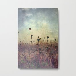 Her Mind Wandered in Beautiful Worlds Metal Print