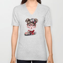 Cat Crazy Chloe - MunchkinZ Elf - Sheena Pike Art & Illustration Unisex V-Neck