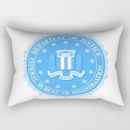 FBI Seal In Blue Rectangular Pillow