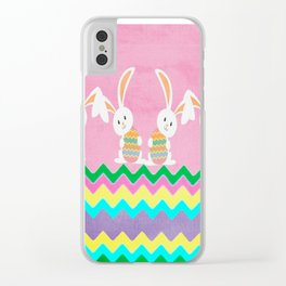 Easter Chevron Pattern Clear iPhone Case