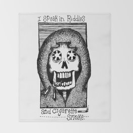 Riddles and Cigarette Smoke. Throw Blanket