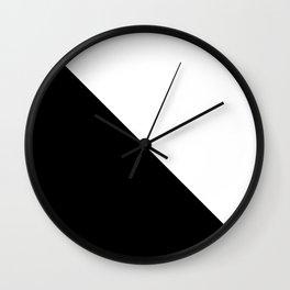 Black White Shape Wall Clock